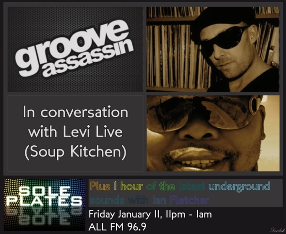 Flyer Design: Groove Assassin Interview with Levi Live - ALL FM 96.9 - 11.01.2013