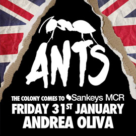 Ants w. Andrea Oliva, Black Coffee and Irfan Rainy